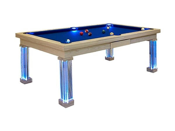 Bilijardai Pronto Monaco Home Use Pool Table with LED Lights|Bilijardai Glass Top