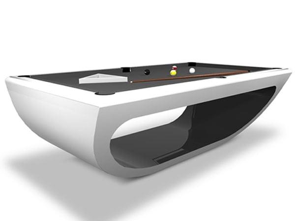 BBilhares Europa Nefertiti Modern Pool Table 8ft. | Glossy White & Glossy Black Finishing
