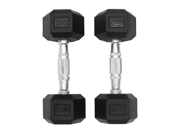 Facile Hex Dumbbell Black 5KG | Pair
