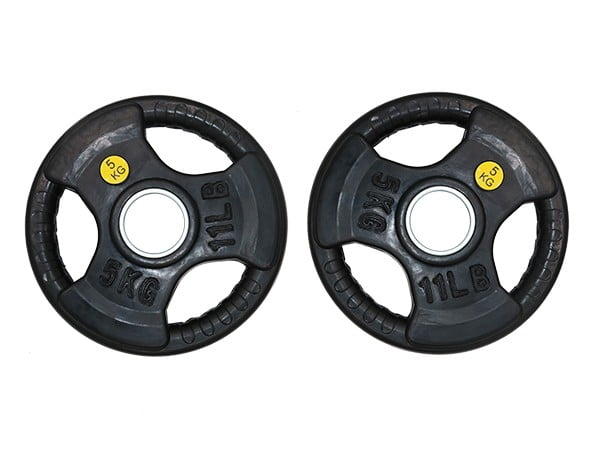 Facile Black Rubber Weight Plate 5KG | Pair