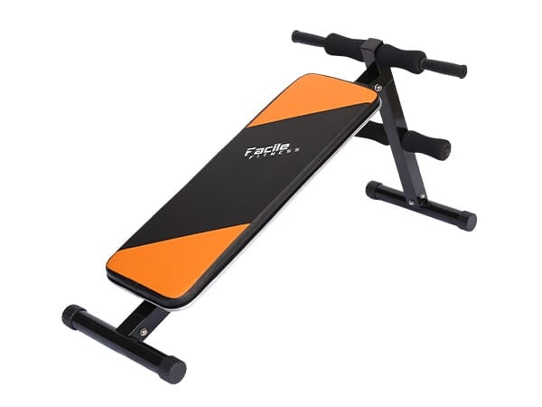Facile Deluxe Adjustable Bench Orange and Black   110kg User Weight