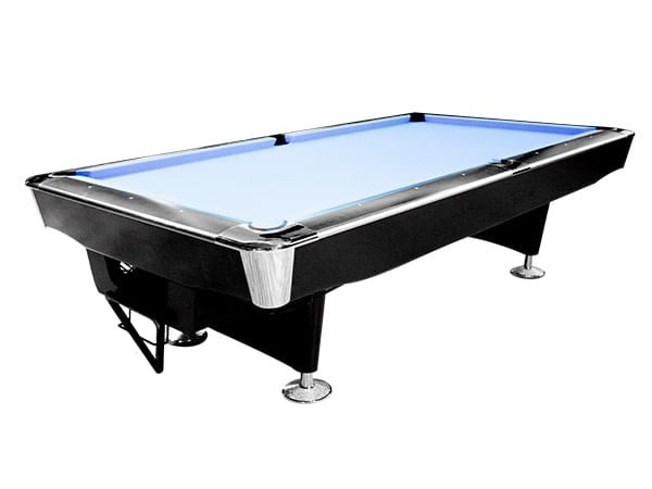9 FT Commercial Billiard Table w/ Ball Return System | Knight Shot Galaxy