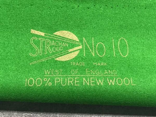 Strachan UK No. 10 Championship Snooker Cloth | Per Set