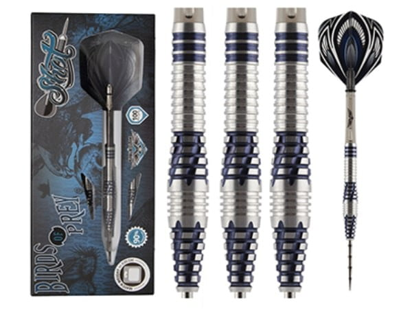 Shot Darts Birds Of Prey Falcon Steel Tip Dart Set-90% Tungsten Barrels-23gm