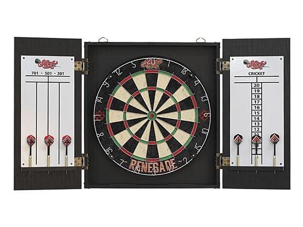 Shot Darts Renegade Dartboard & Cabinet Set