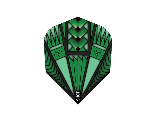 Shot Darts Armour Green Dart Flight Set / 3Pcs Small
