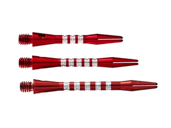 Shot Darts Aluminium Anodised Pyramid Shaft Red Short