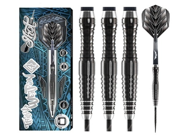 Shot Darts Tribal Weapon 4 Series Steel Tip Dart Set-90% Tungsten-24gm