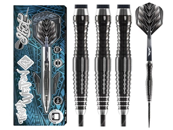 Shot Dart Tribal Weapon 4 Series -Steel Tip Dart Set-90% Tungsten-26gm