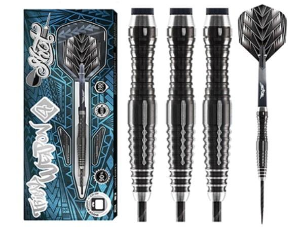Shot Dart Tribal Weapon 4 Series -Steel Tip Dart Set-90% Tungsten-26gm