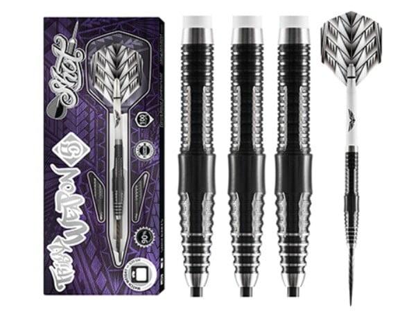 Shot Darts Tribal Weapon 5 -Steel Tip Dart Set-90% Tungsten-23gm