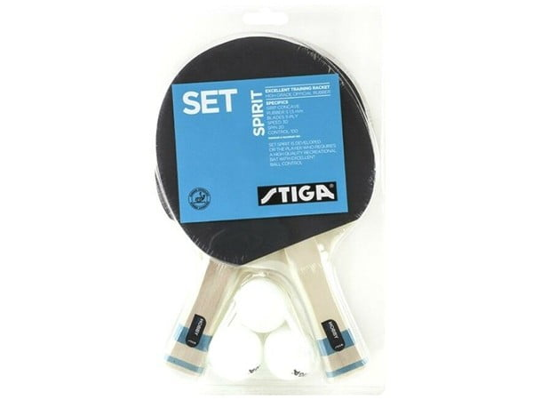 Stiga Spirit Hobby Table Tennis Bat Set With 2 Bat & 3 Balls
